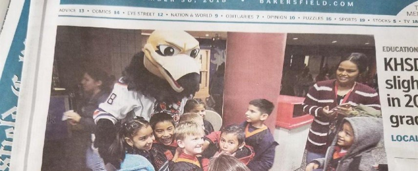 SV Students at the Condors Game-Bakersfield Californian
