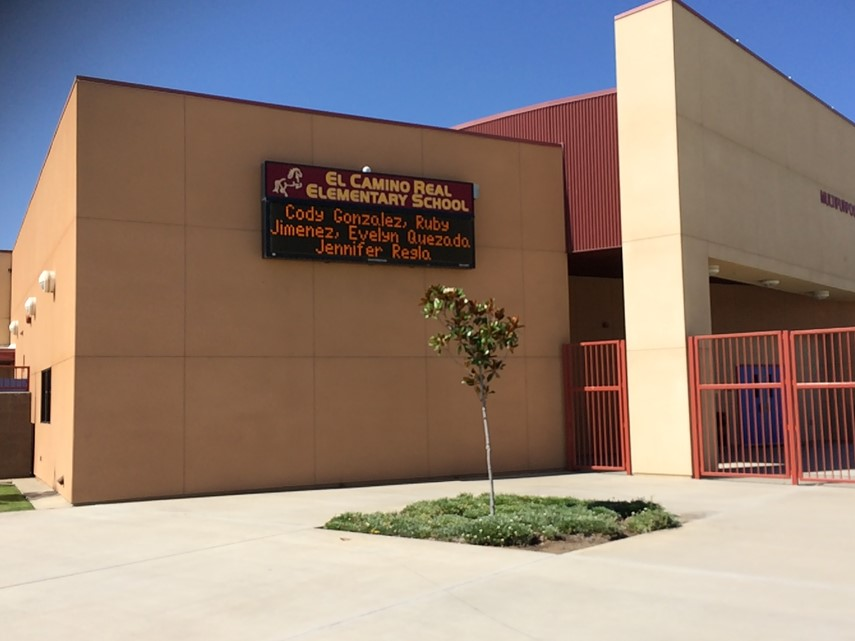 Front of El Camino Real Elementary School